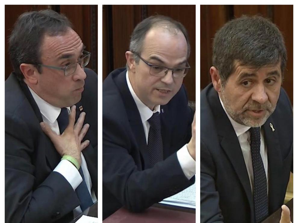 Josep Rull, Jordi Turull y Jordi Sànchez (JxCat).