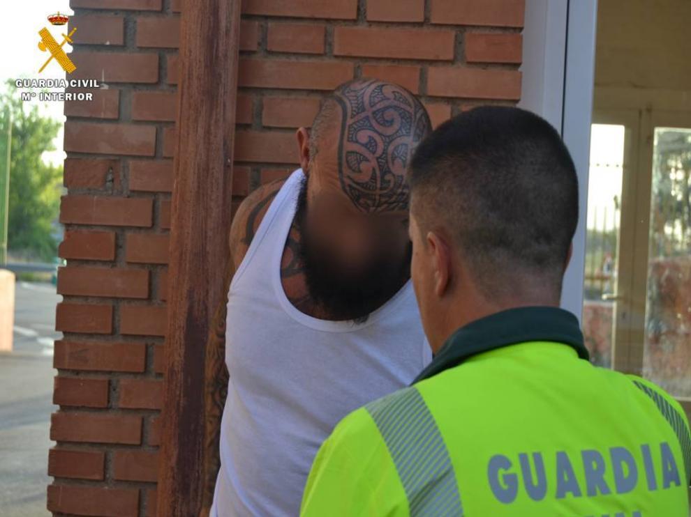 El criminal, Errol Víctor Michel Janssen, tras su detención en Cetina el pasado 25 de junio.