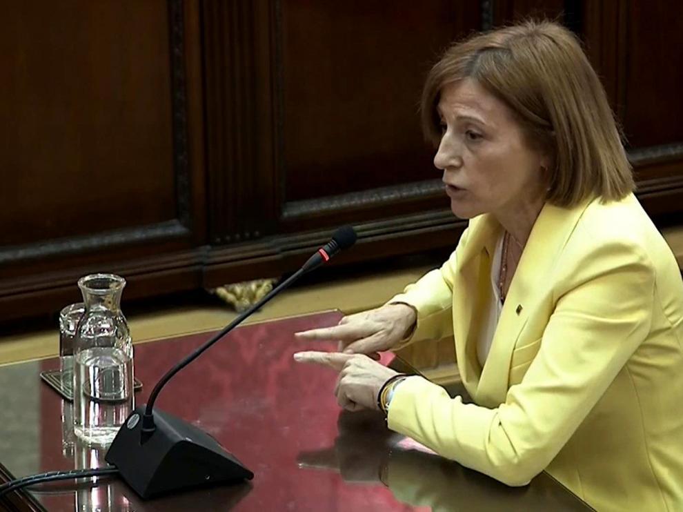 La expresidenta del Parlament de Cataluña, Carme Forcadell.