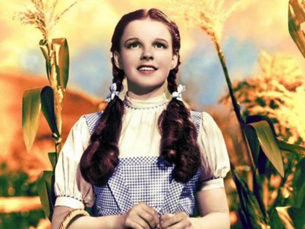 Judy Garland, como Dorothy en 'El mago de Oz'