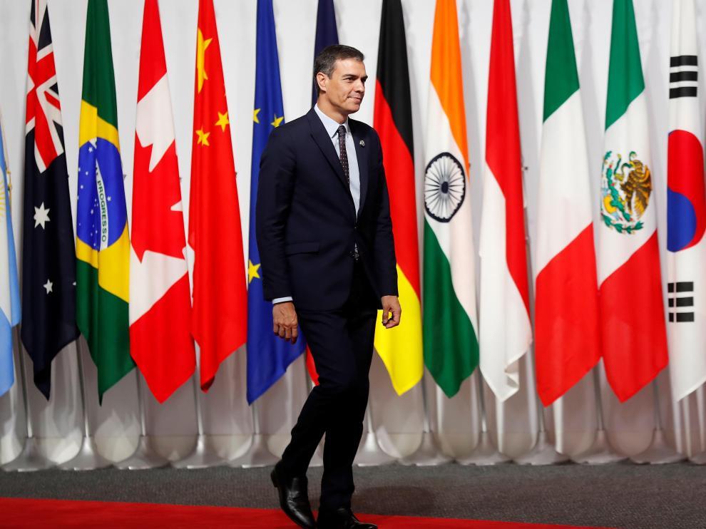 Pedro Sánchez participa en la cumbre del G20 en Osaka.