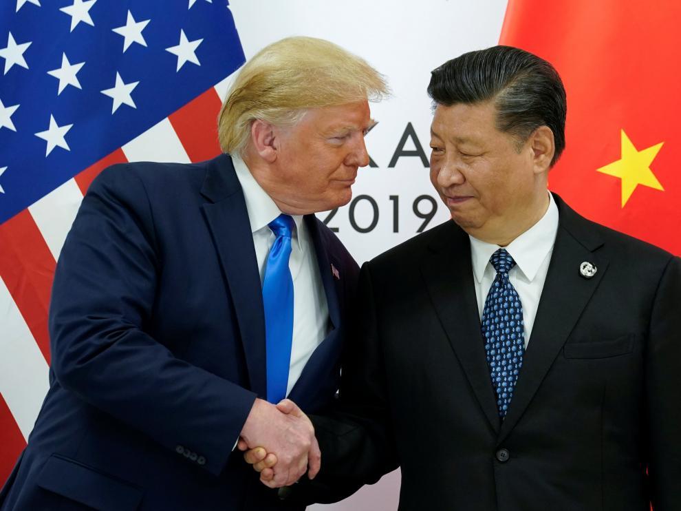 os mandatarios de Estados Unidos y China, Donald Trump y Xi Jinping,