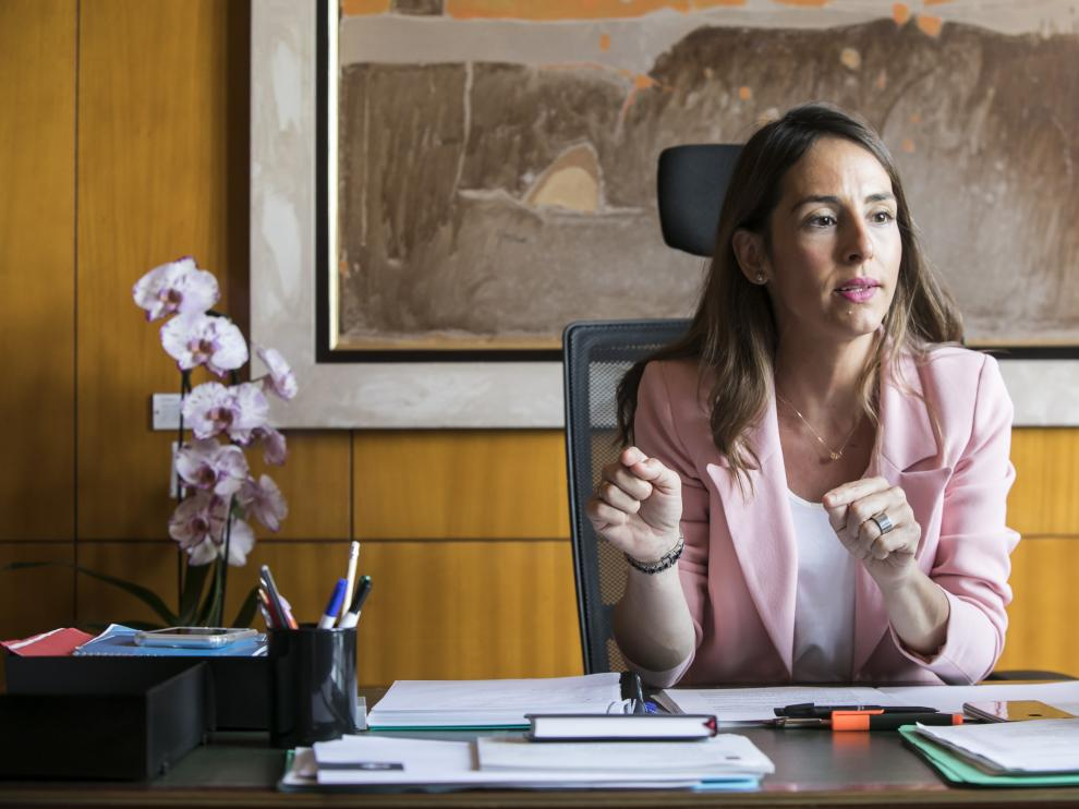 María Navarro, concejal de Presidencia, Hacienda e Interior y portavoz del gobierno municipal, en su despacho del Ayuntamiento.