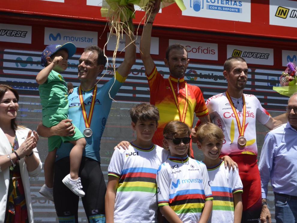 Alejandro Valverde (Movistar) logra su tercer título de campeón de España.