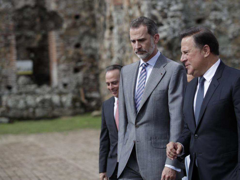 Felipe VI, en su visita a Panamá.