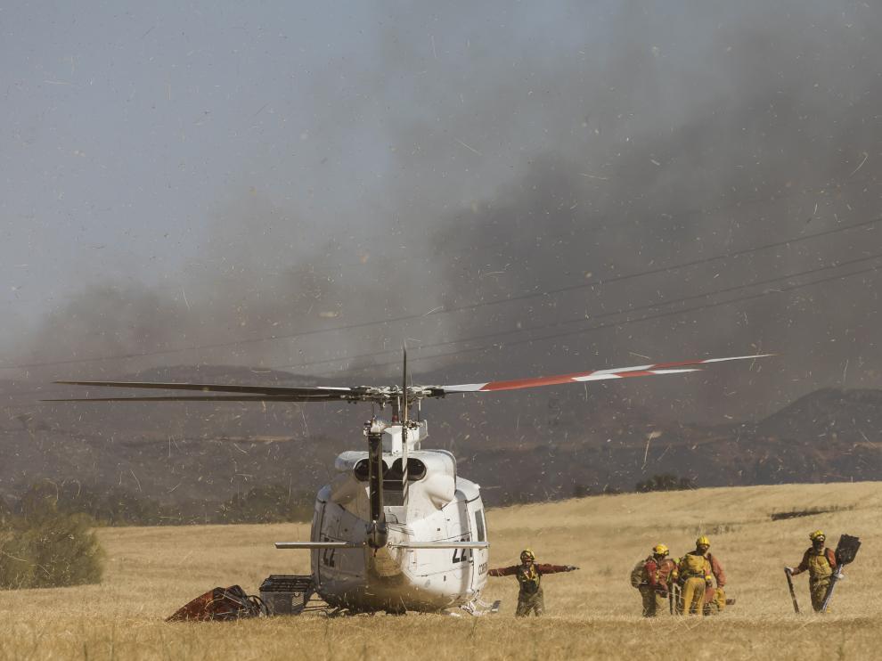 Incendio en Villanueva de Huerva
