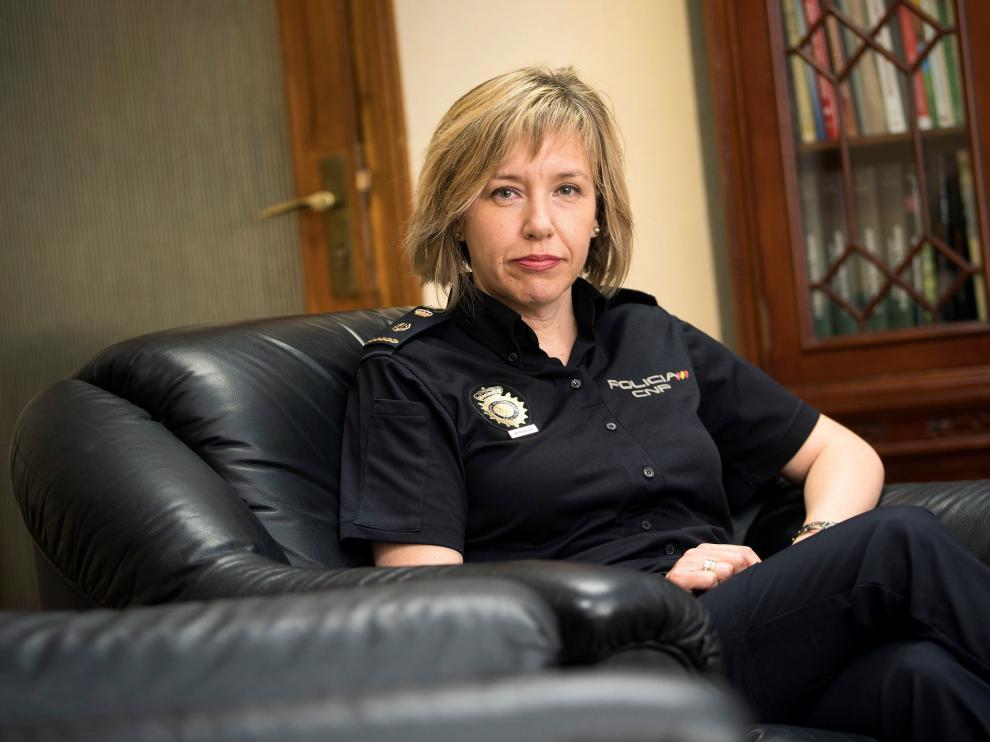 Pilar García, inspectora jefe de la Policía Científica de Zaragoza.