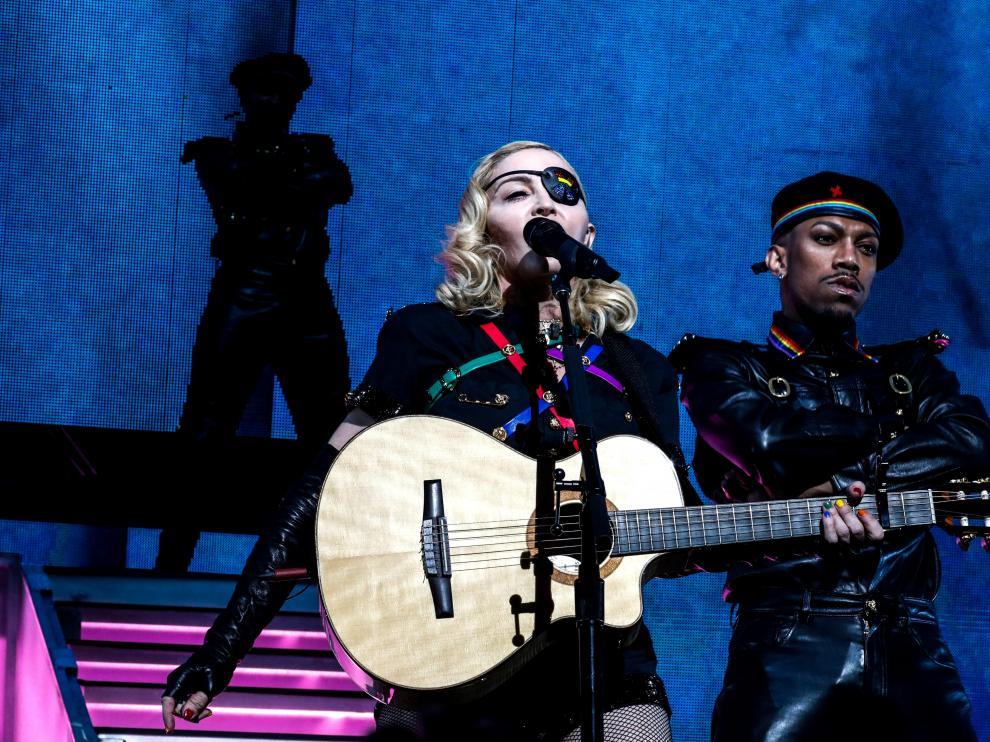 Madonna performs at the 2019 Pride Island concert during New York city Pride in New York City, New York, U.S., June 30, 2019. REUTERS/Jeenah Moon     TPX IMAGES OF THE DAY [[[REUTERS VOCENTO]]] GAY-PRIDE/NEW YORK