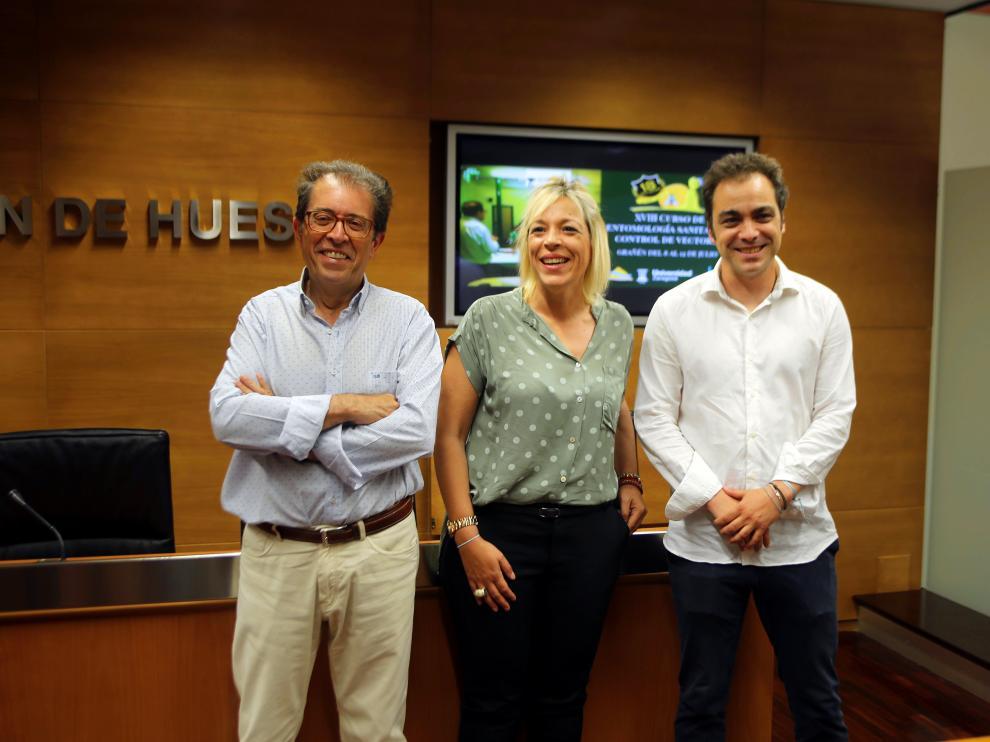 Javier Lucientes, Judith Budios y Carlos Sampériz.