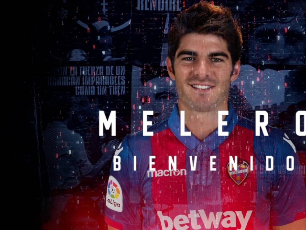Gonzalo Melero, con la camiseta del Levante.