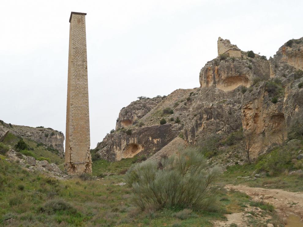 Pilastra de la Foz de Zafrané, en La Puebla de Albortón