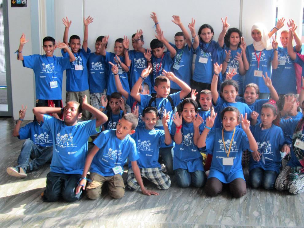 Un grupo de niños saharauis del proyecto vacaciones en Paz del año pasado