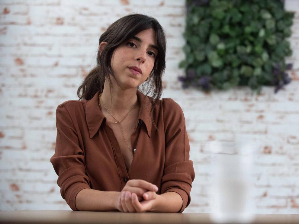Marta Lallana, el viernes en Zaragoza