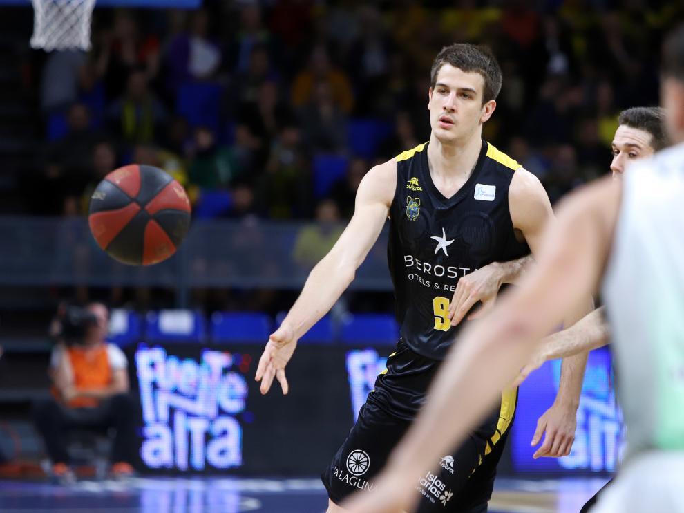 Nico Brussino, nuevo jugador del Basket Zaragoza.