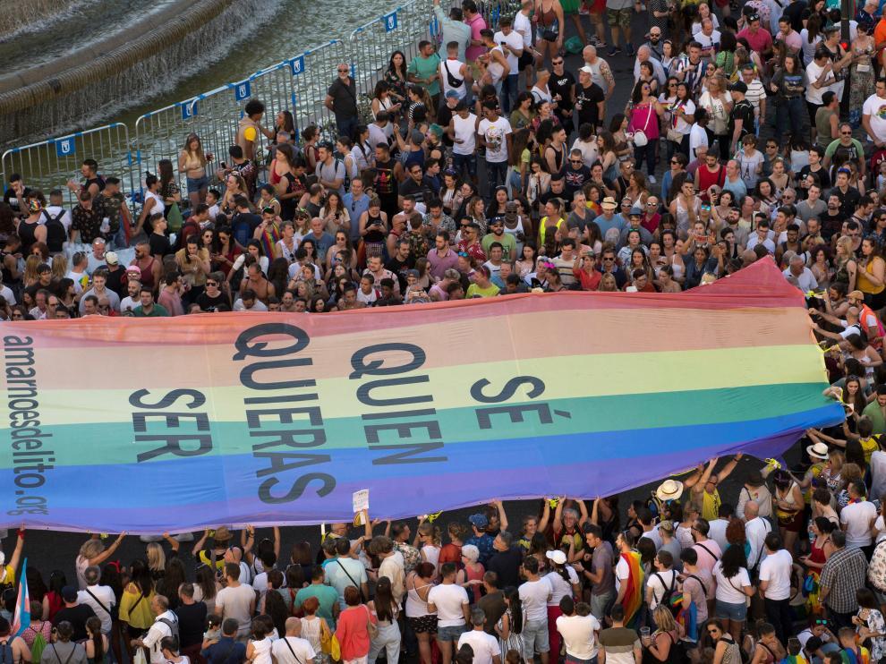 Manifestación del Orgullo 2019 en Madrid