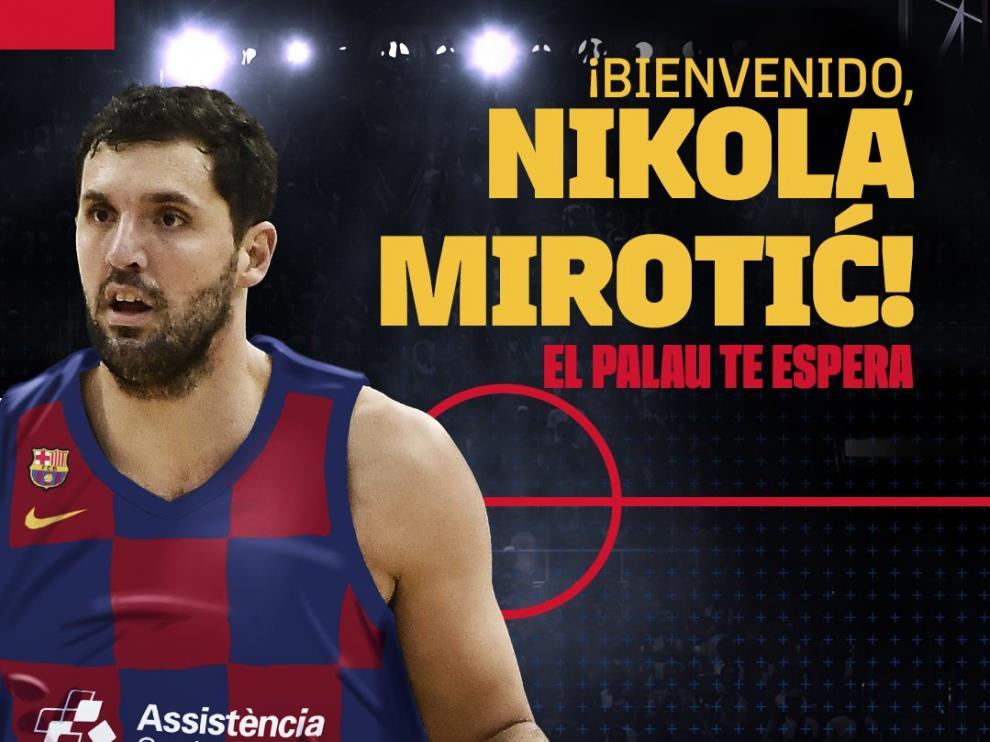 Mirotic, nuevo jugador del Barça