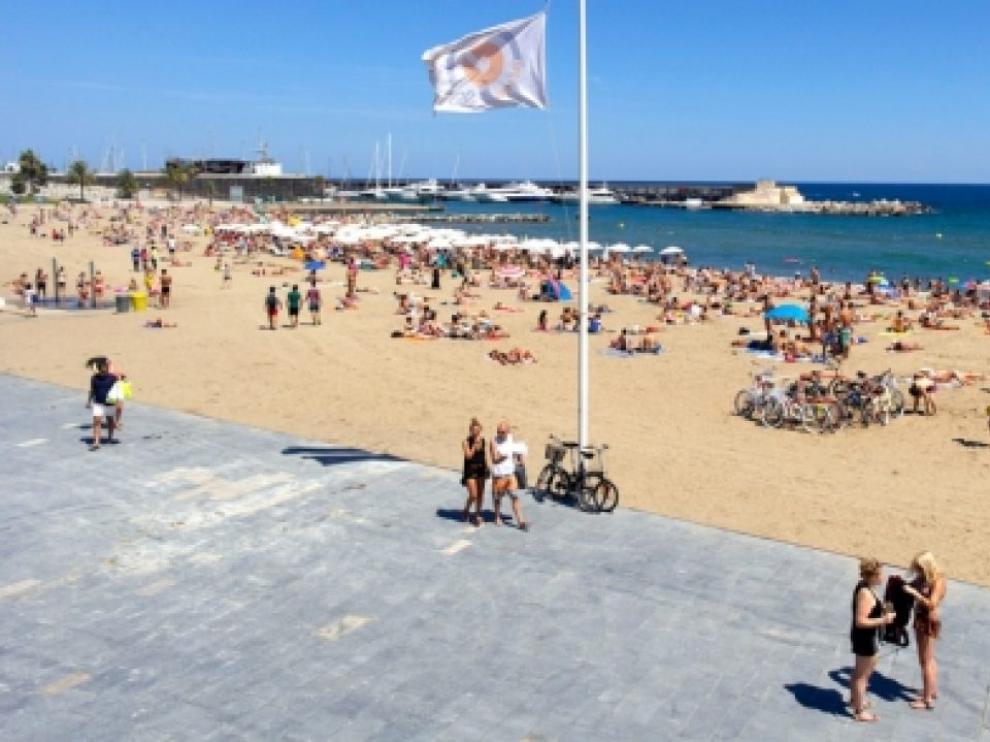 Playa del Somorrostro, donde se produjeron las detenciones.