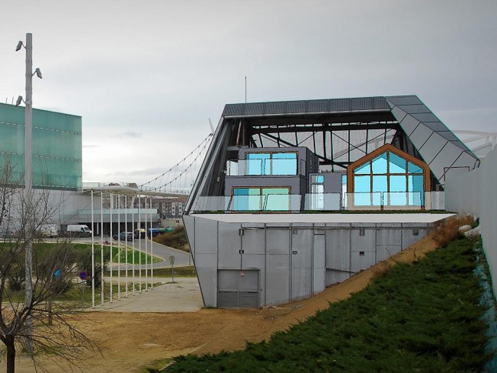 Recreación diseñada por Mario Melendo de las pequeñas construcciones que darían nueva vida a la telecabina.