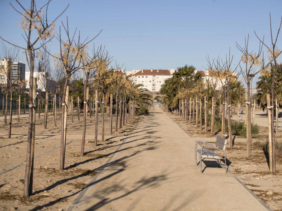 El parque de Los Prados de Utebo se va a ampliar en los próximos dos meses