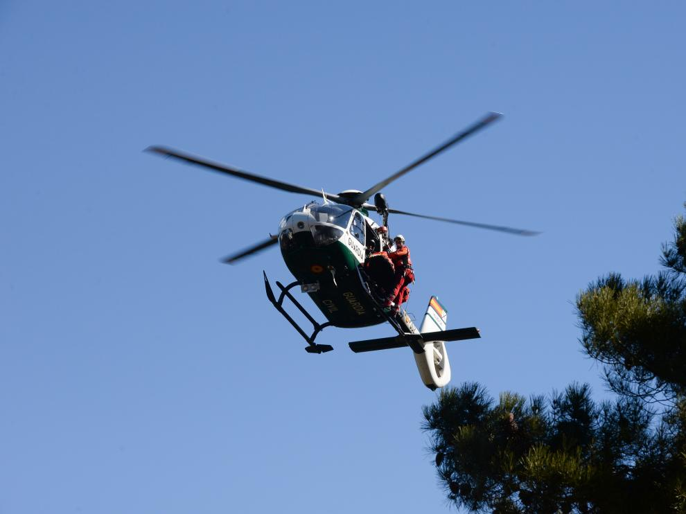 Helicóptero de rescates de la Guardia Civil.