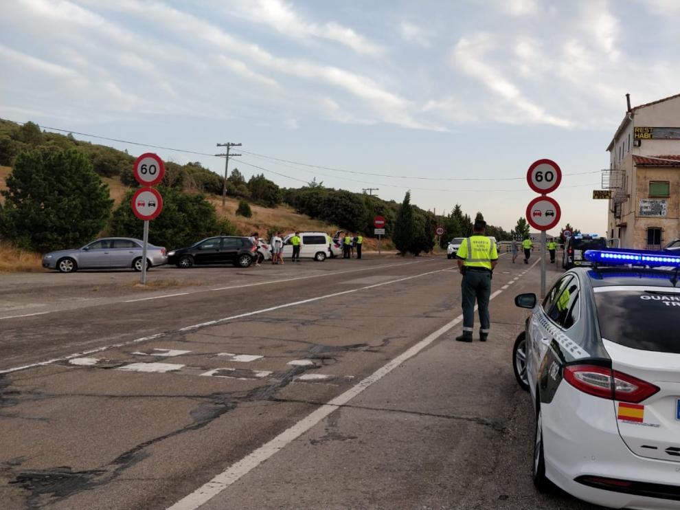 La Guardia Civil durante las Fiestas del Ángel de Teruel.