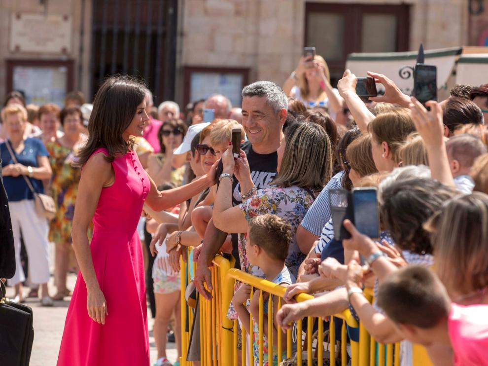 La reina Letizia este martes en Almagro.