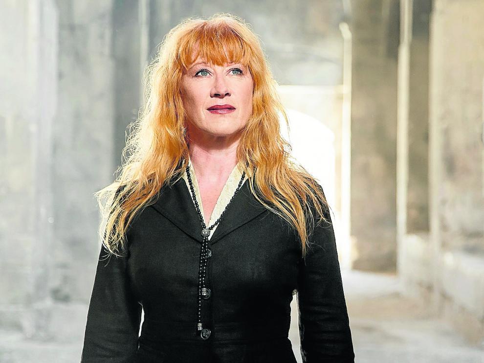 Loreena McKennitt presenta hoy en el Palacio de Congresos de Zaragoza su último trabajo 'Lost Souls'.