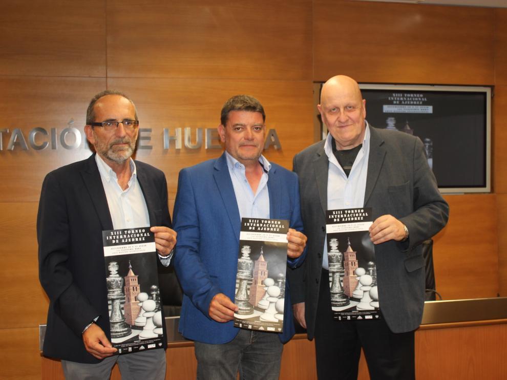 Mateo, Amador y García durante la presentación.