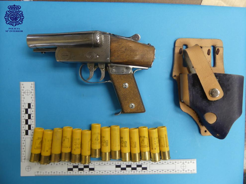 Arma usada en el atraco.