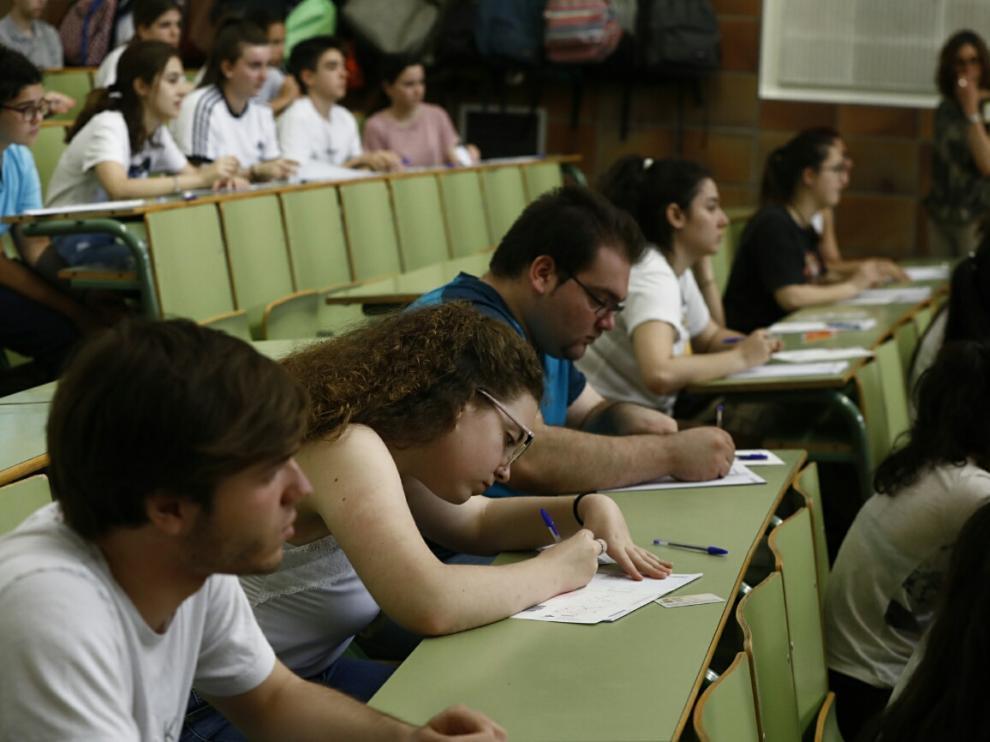 Exámenes de la prueba de acceso a la Universidad celebrados el pasado junio