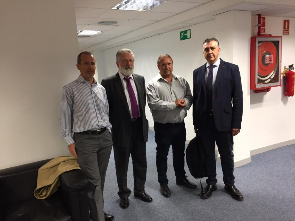 De izquierda a derecha, Jesús Ollés, Alvaro Enrech, José Manuel Penella y Pablo Martínez, este miércoles en la Audiencia Nacional.