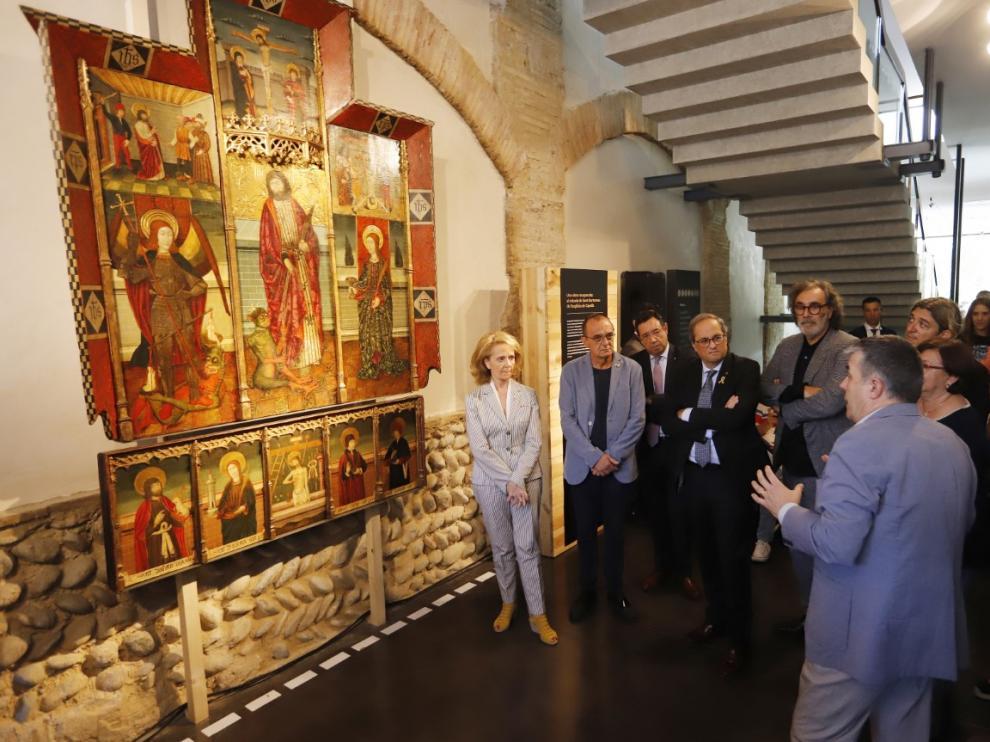 El presidente de la Generalitat en la presentación del retablo el martes.