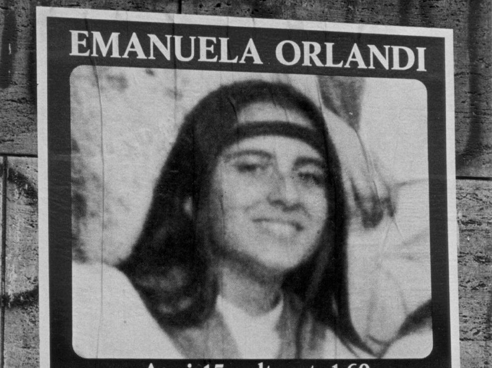 Rome (Italy), 05/07/2010.- (FILE) - An undated file handout photograph released on 05 July 2010 showing a poster appealing for information on the whereabouts of missing Vatican city citizen Emanuela Orlandi, who dissapeared on 22 June 1983 and whose body is not never been found (reissued 10 July 2019). Police on 10 July 2019 is opening two graves in cemetery tucked away behind the walls of Teutonic Cemetery in the Vatican in connection to the search for Emanuela Orlandi. 15-year-old girl Emanuela Orlandi disappeared on 22 June 1983 in Rome. (Italia, Roma) EFE/EPA/STF HANDOUT EDITORIAL USE ONLY/NO SALES *** Local Caption *** 02237771 Graves to be opened in search for Emanuela Orlandi