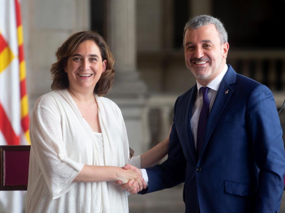 La alcaldesa de Barcelona Ada Colau y Jaume Collboni (PSC), llegan a un acuerdo para un gobierno de coalición en Barcelona