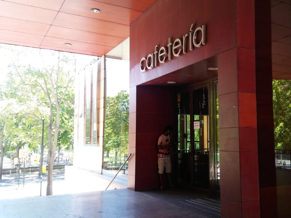 La cafetería del Centro de Historias, cerrada desde el pasado mes de marzo.