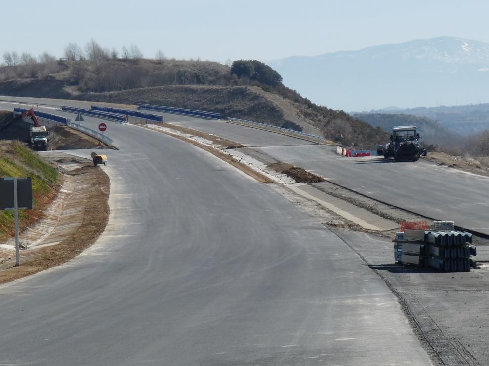 Imagen que presentaba hace tres meses el tramo Jaca-Santa Cilia de la A-21 que se pone este jueves en servicio