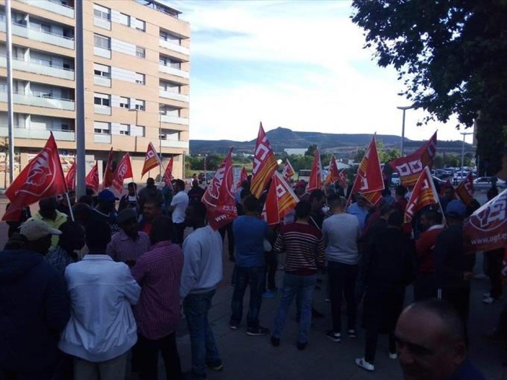 Protesta de temporeros el pasado mes de mayo.