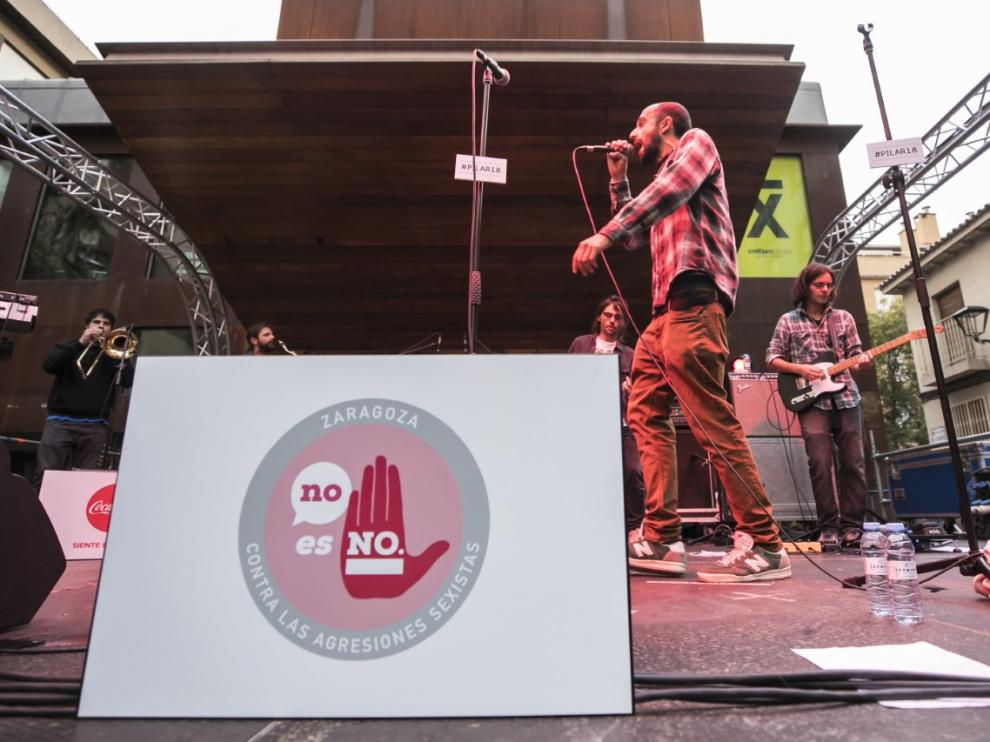 Campaña contra las agresiones sexistas en las Fiestas del Pilar 2018