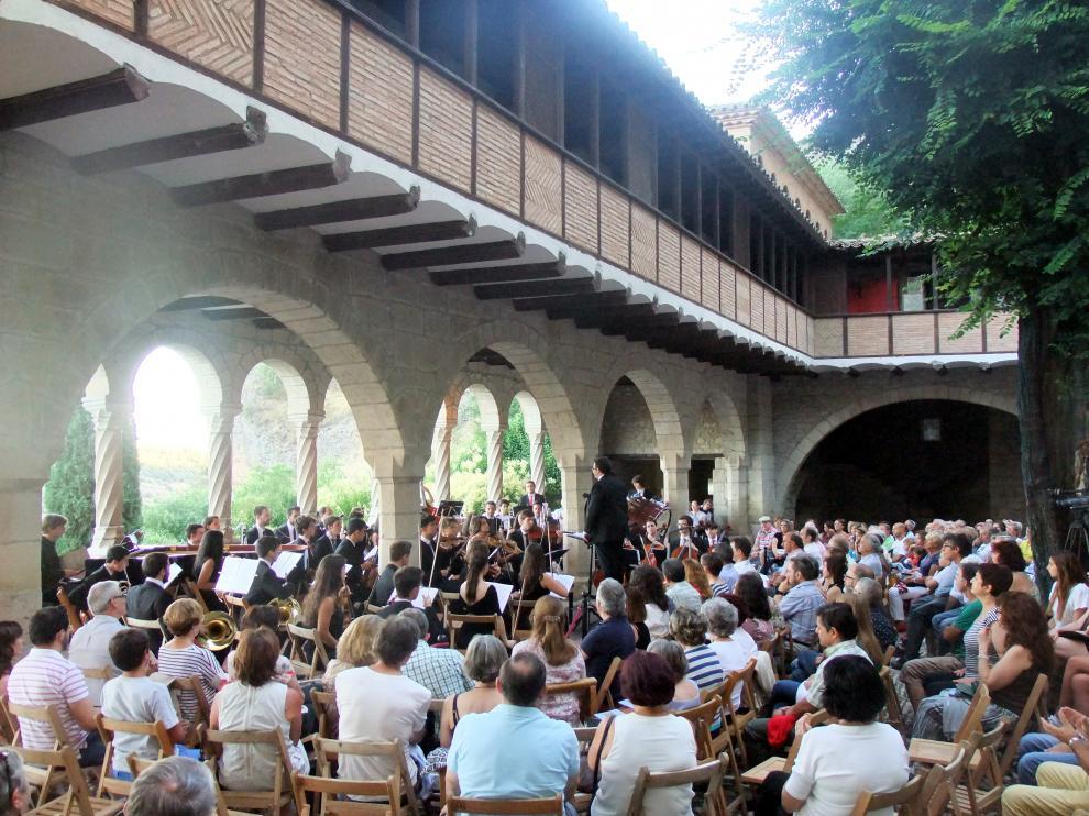 Un concierto celebrado en la basílica de la Peña, de Graus.