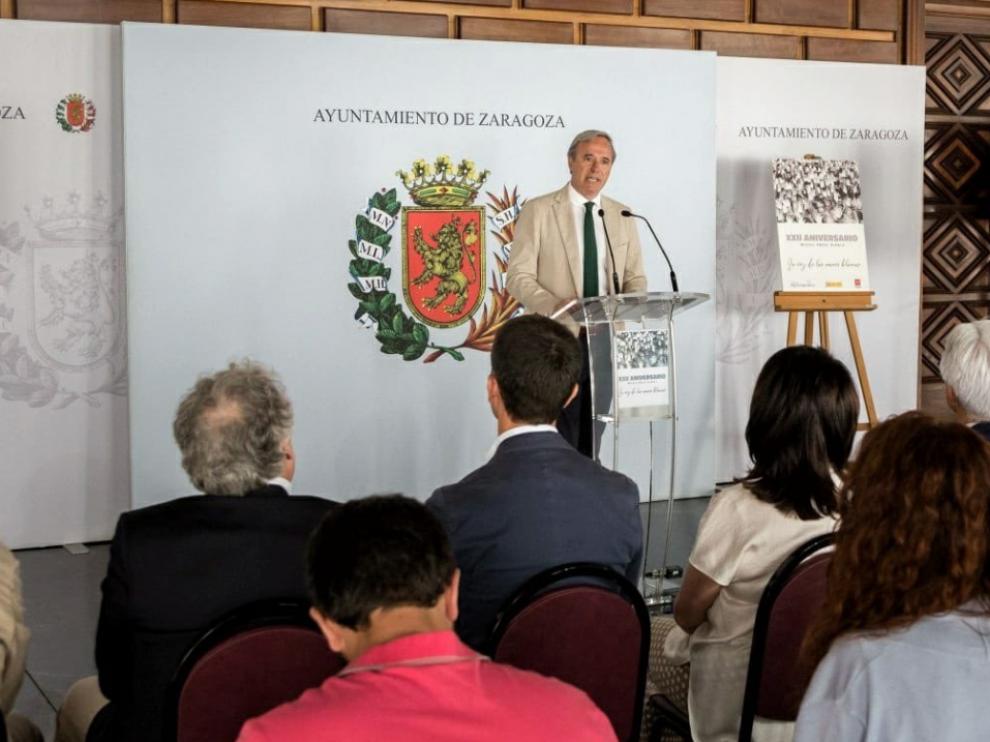 El alcalde Jorge Azcón ha participado en el acto