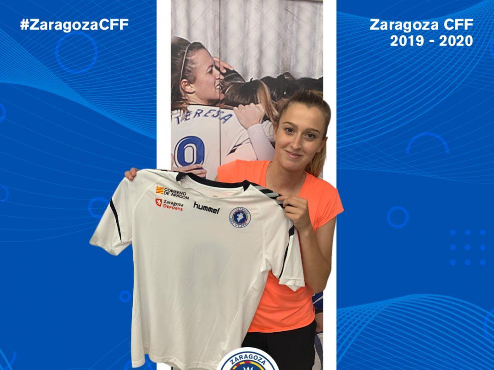 La centrocampista aragonesa de 22 años Teresa Rey.