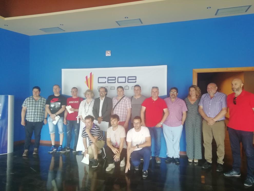 Una de las últimas entregas de certificaciones profesionales en CEOE Aragón.