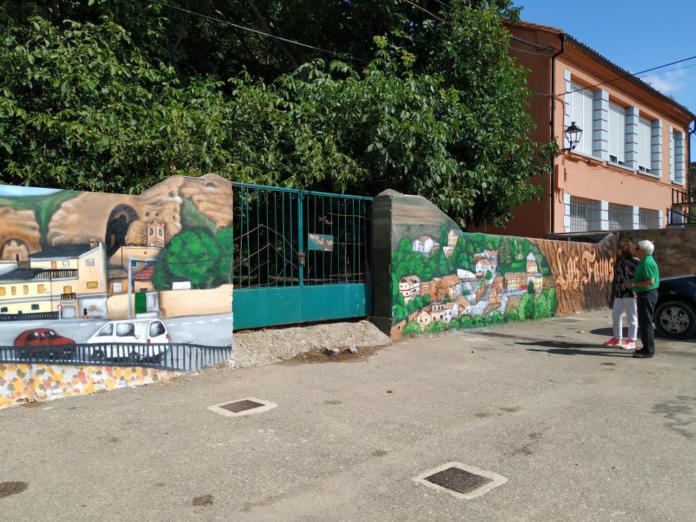 Uno de los nuevos murales.