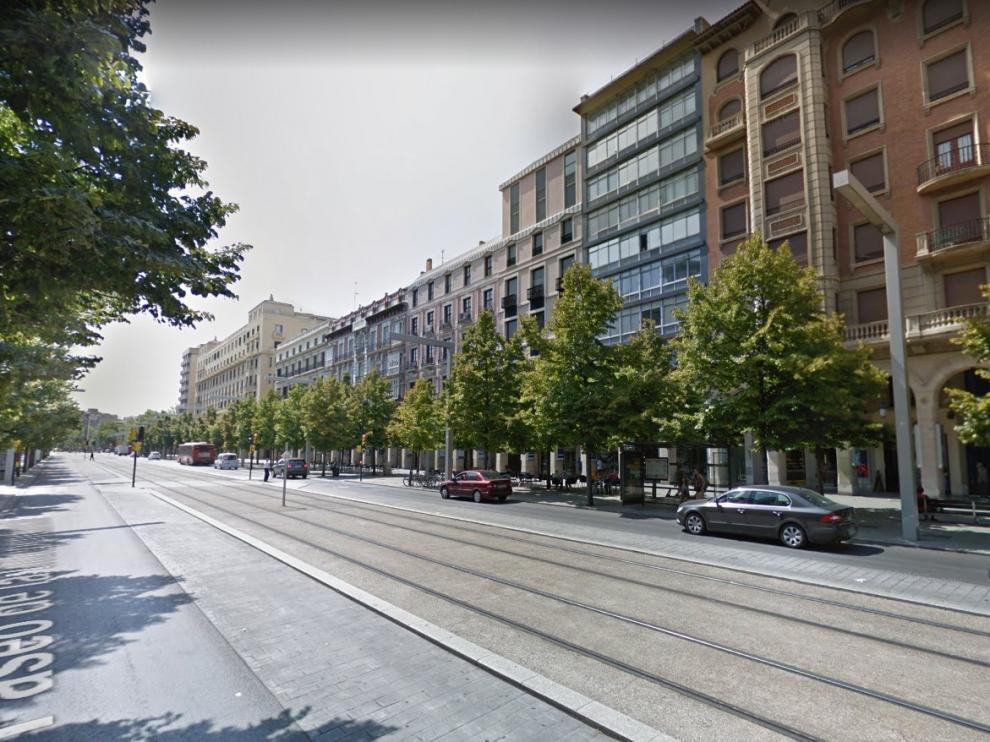 Una imagen del paseo de la Independencia de Zaragoza.