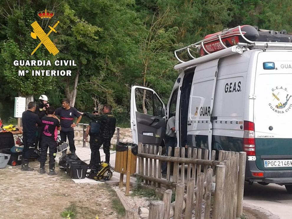 El cuerpo ha sido recuperado por el Grupo Especialista en Actividades Subacuáticas.