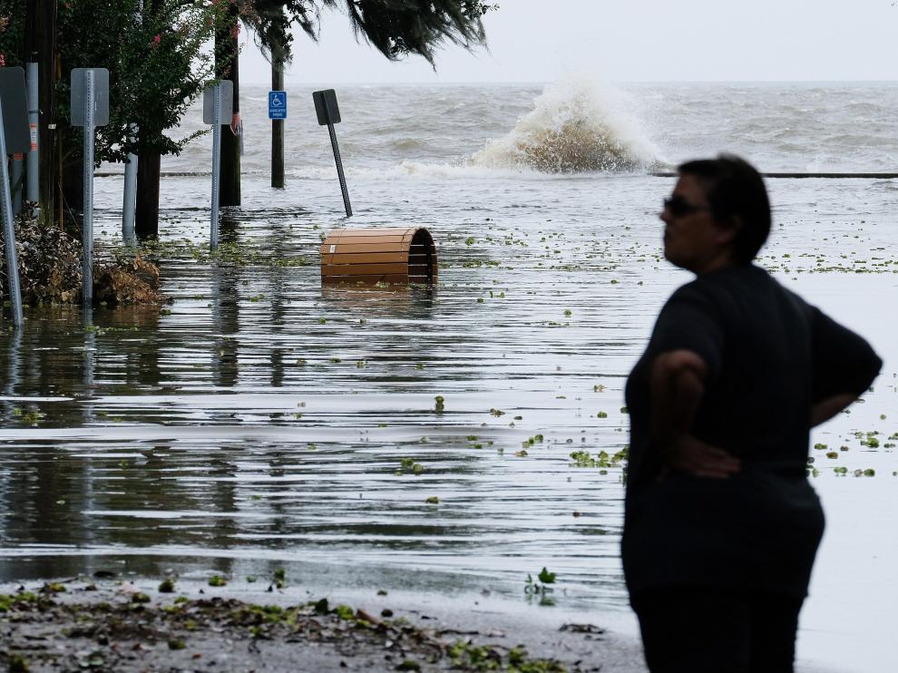 La llegada del huracán Barry provoca inundaciones en Louisiana.