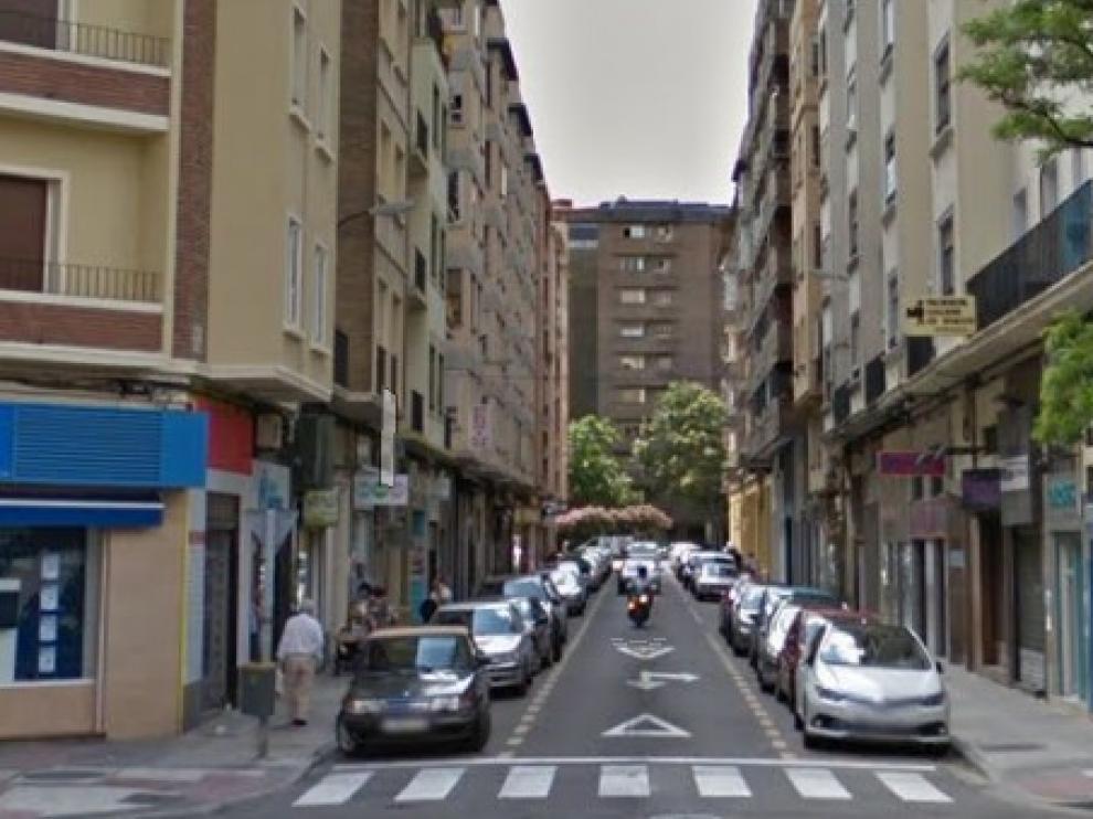 Calle de María Lostal, donde se ha producido la detención.