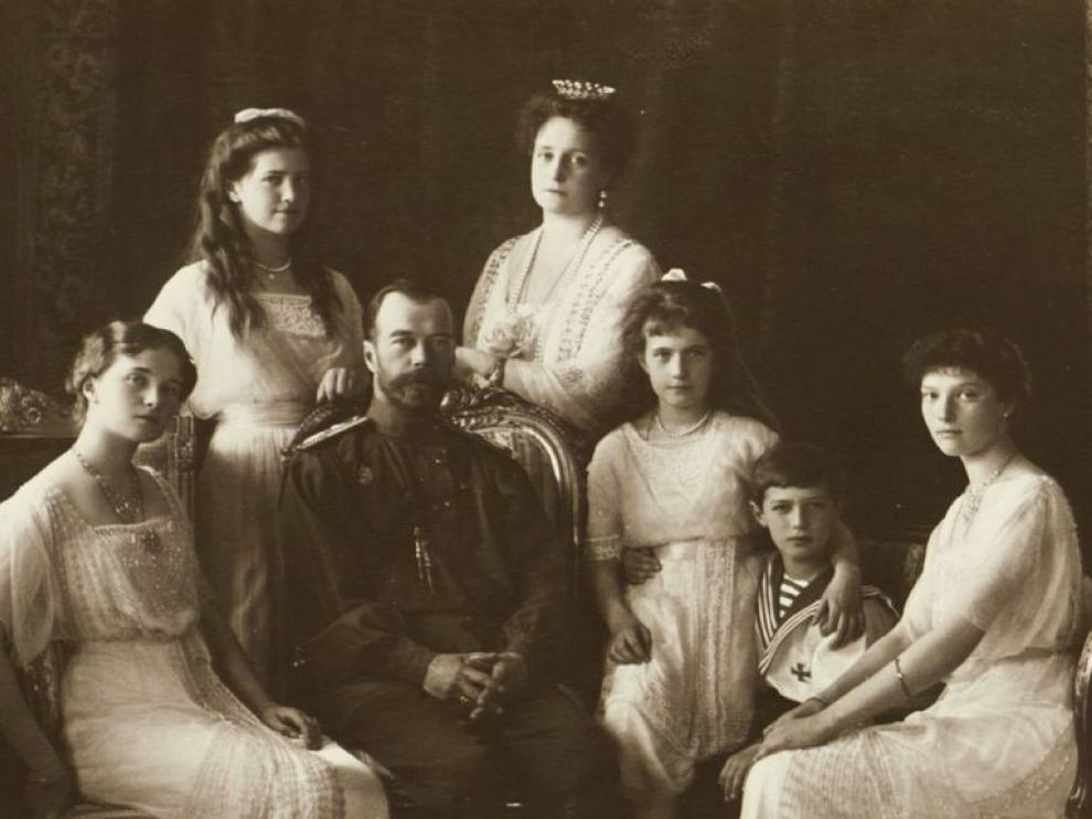 Los miembros de la familia Romanov