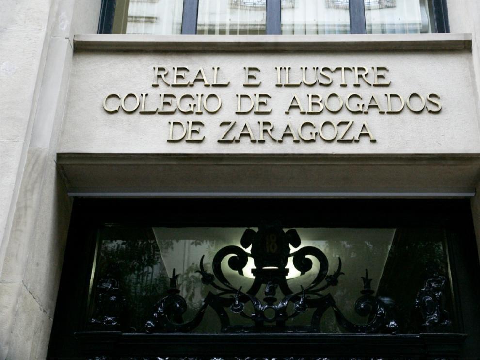 Sede del Colegio de Abogados de Zaragoza en la que se ha presentado el informe sobra la transcendencia económica de las profesiones colegidas en Aragón.