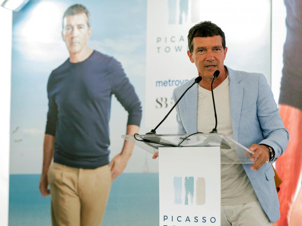 Antonio Banderas en la presentación del proyecto inmobiliario Picasso Towers.